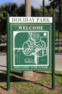 Holiday Park Post & Panel Signs