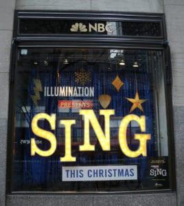 NBC Window Display Graphics