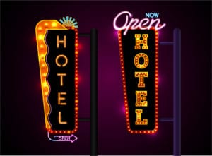 Hotel Vertical Signs