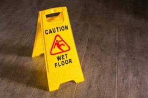 Yellow Wet Floor Sign