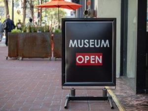 Museum open sign