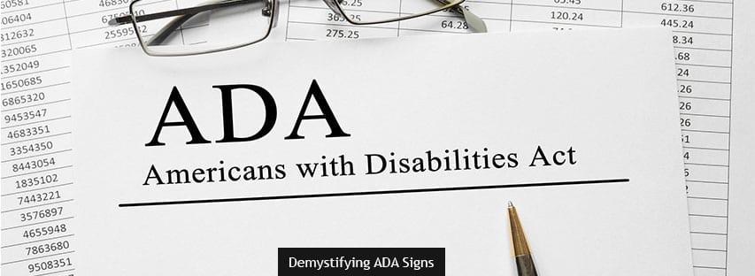 Demystifying ADA Signs
